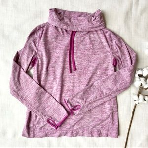 J Crew Active Cowl Neck Pullover Workout Top Pink